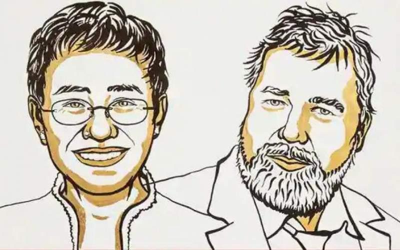 دو خبرنگار، برندگان جایزه صلح نوبل امسال
