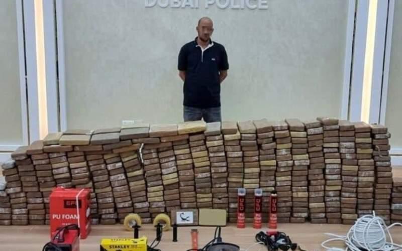 پلیس دبی ۵۰۰ کیلوگرم کوکائین کشف کرد