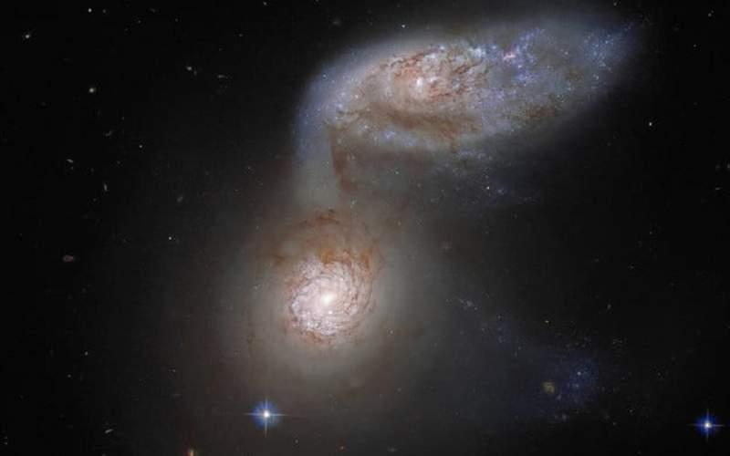 دو کهکشان ادغام شده، شکار تلسکوپ هابل شد!