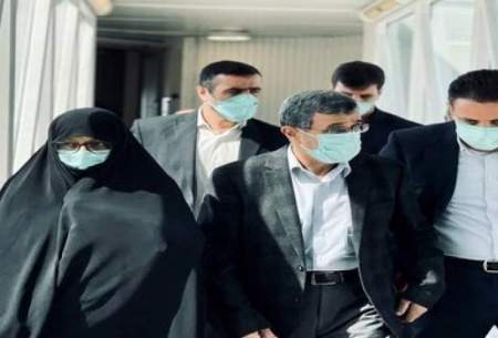 احمدی نژاد و همسرش در نمایشگاه اکسپو/تصاویر