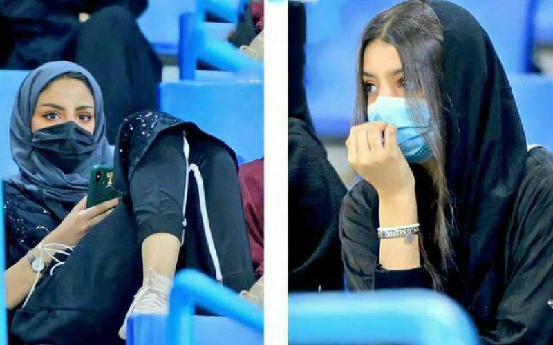 تصویری از حضور زنان سعودی در ورزشگاه ریاض